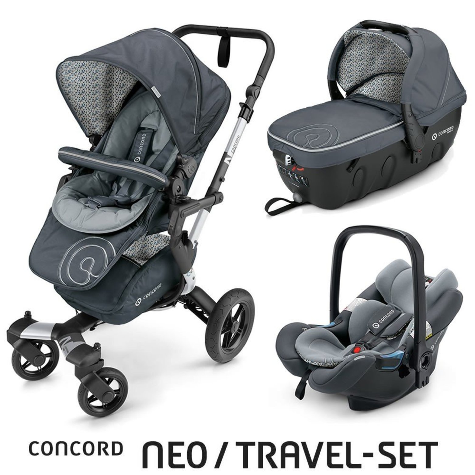 TRAVEL SET NEO AIR+SLEEPER CONCORD - Graphite Grey