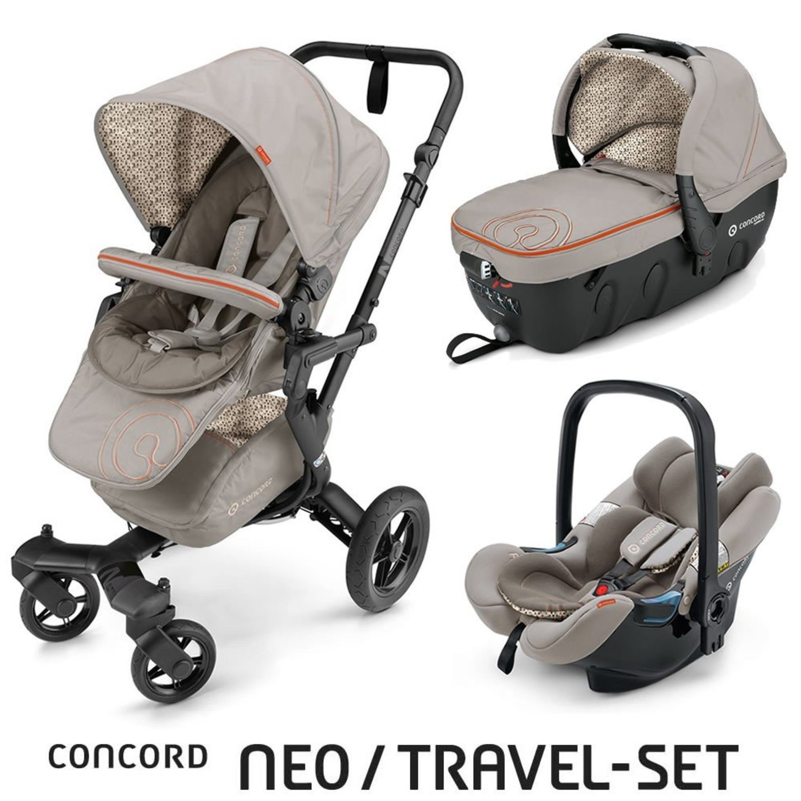 TRAVEL SET NEO AIR+SLEEPER CONCORD - Cool Beige